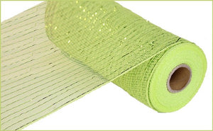 "10""X10yd Metallic Value Mesh- Green apple w/ lime foil"