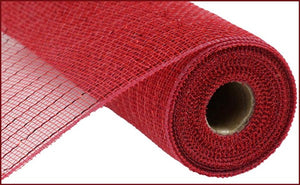 "10""X10yd Cranberry w/ Red foil Metallic Value Mesh"
