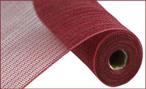 "21"" x 10yd Burgundy Metallic Value Foil Deco Mesh"