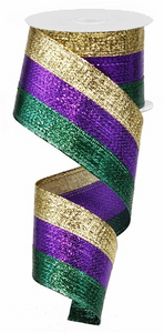"2.5""X10yd 3 In 1 Metallic Ribbon"