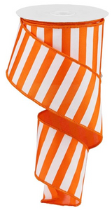 "2.5""X10yd Orange Medium Horizontal Stripe"