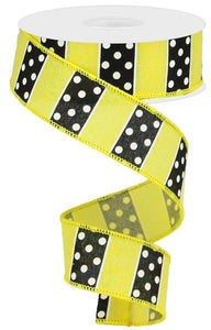 "1.5""X10YD POLKA DOT/STRIPES"