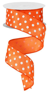 "1.5""X10yd Small Polka Dot"