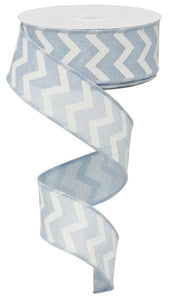 "1.5""X10yd Small Chevron/Royal"