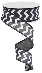 "1.5""X10yd Small Chevron/Royal Dark Blue"