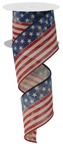 "2.5""X10yd Stars And Stripes/Royal"