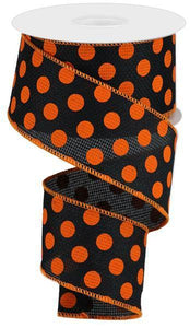 "2.5""X10YD MEDIUM POLKA DOTS/CROSS ROYAL"