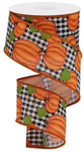 "2.5""X10yd Pumpkin Patch/Check"