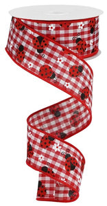 "1.5""X10yd Mini Ladybugs/Check"