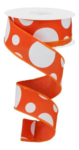 "1.5""X10yd Orange Giant Three Size Dot/Pg"