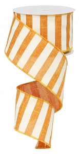 "2.5""X10yd Light Orange Horizontal Stripe"