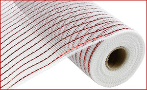 "10""X10yd Matte Wide Foil Mesh-Red and white"