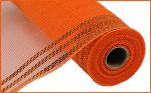 "10"" Orange Border Foil Mesh"