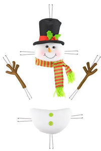 "4PC 18""H SNOWMAN DECOR KIT"