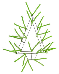 "20""H Pencil Open Wall Tree Work Form- Lime Green"