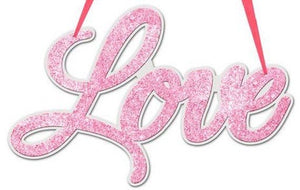 "14.5"" Light Pink ""Love"" Word Sign"
