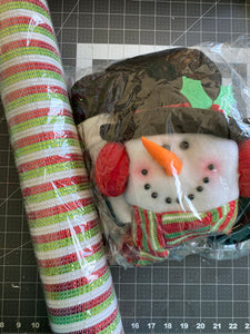 Fb and YouTube Live Snowman Kit with snowman and mesh