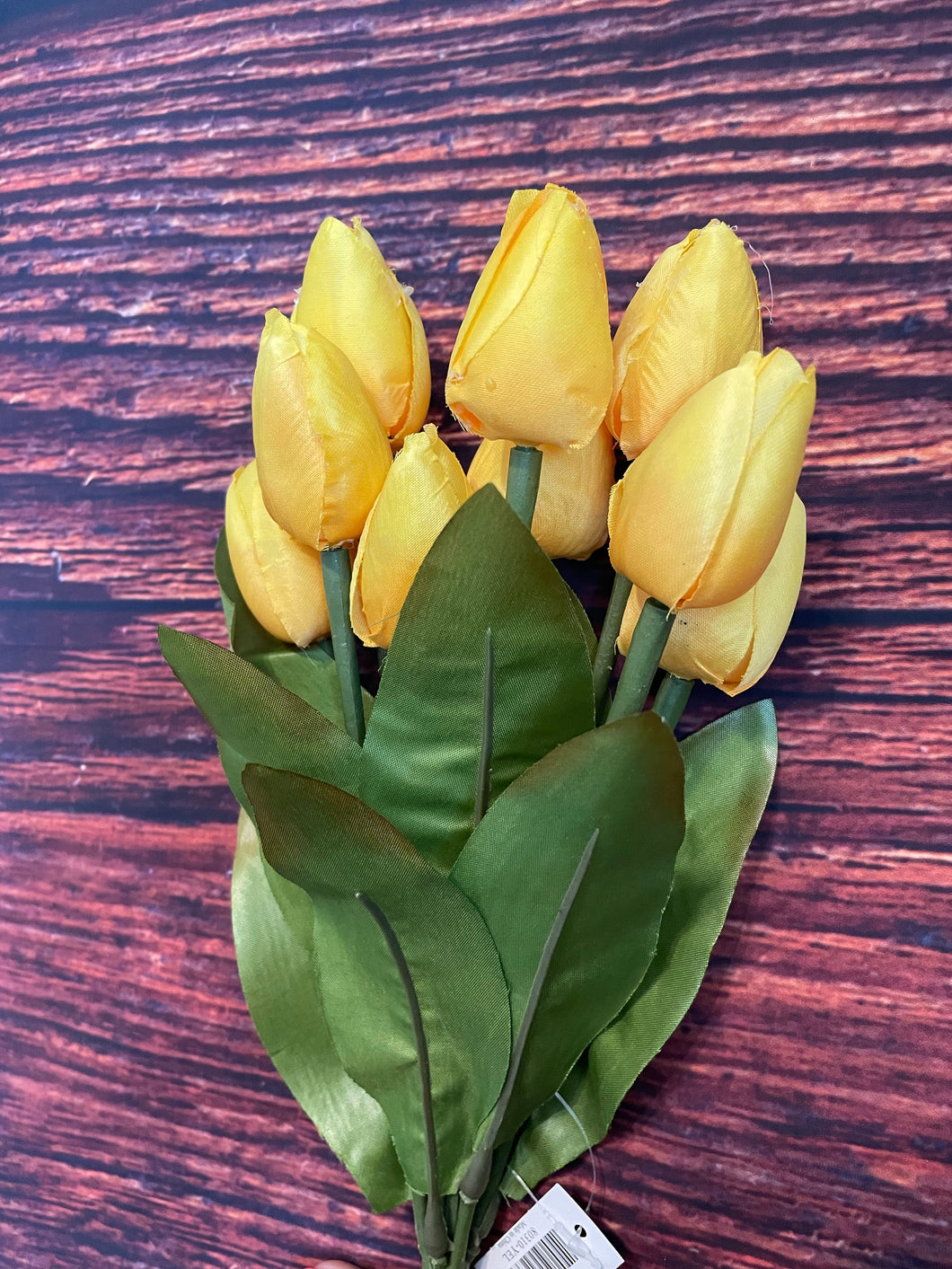 13 IN YELLOW TULIP BUSH X 9