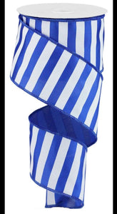 "2.5""X10yd Medium Horizontal Stripe-Royal Blue"