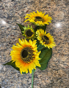 34 IN SUNFLOWER SPRAY X 4