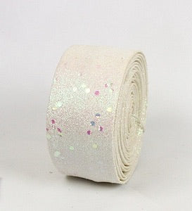 "2""X10ft White Sparkle Roll"