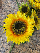 Load image into Gallery viewer, 34 IN SUNFLOWER SPRAY X 4