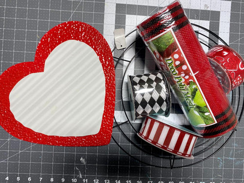 YouTube and FB Live Valentines Wreath kit