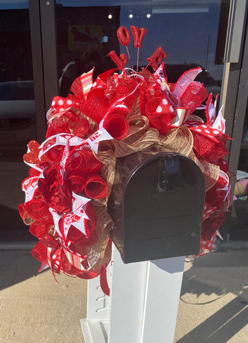 Youtube Valentines Deco Mesh Mailbox Swag Kit