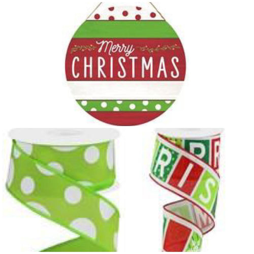Christmas Ornament Sign Ribbon Kit