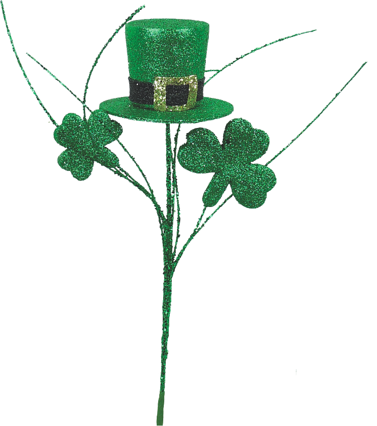 St. Patrick Top Hat Clover Pick