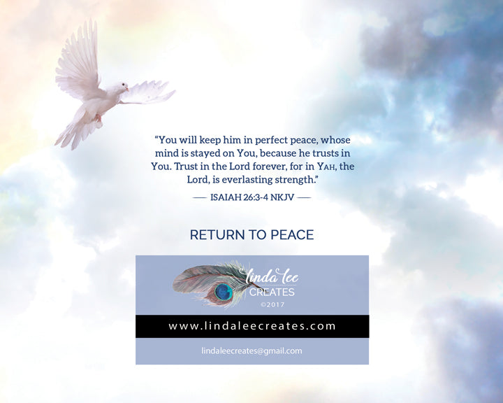 RETURN TO PEACE  [greeting card]