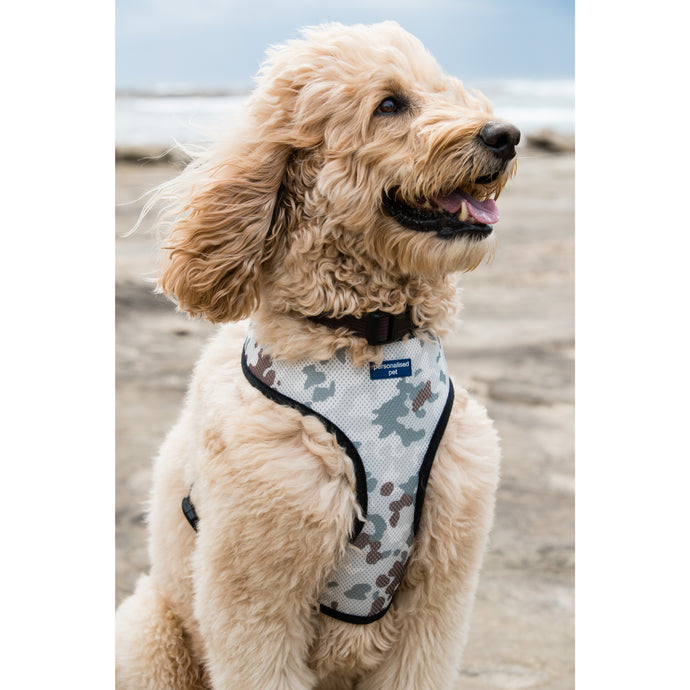 Pet Harness Embroidered - Camo