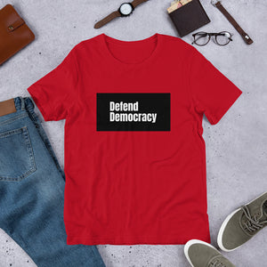 Defend Democracy Short-Sleeve Unisex T-Shirt