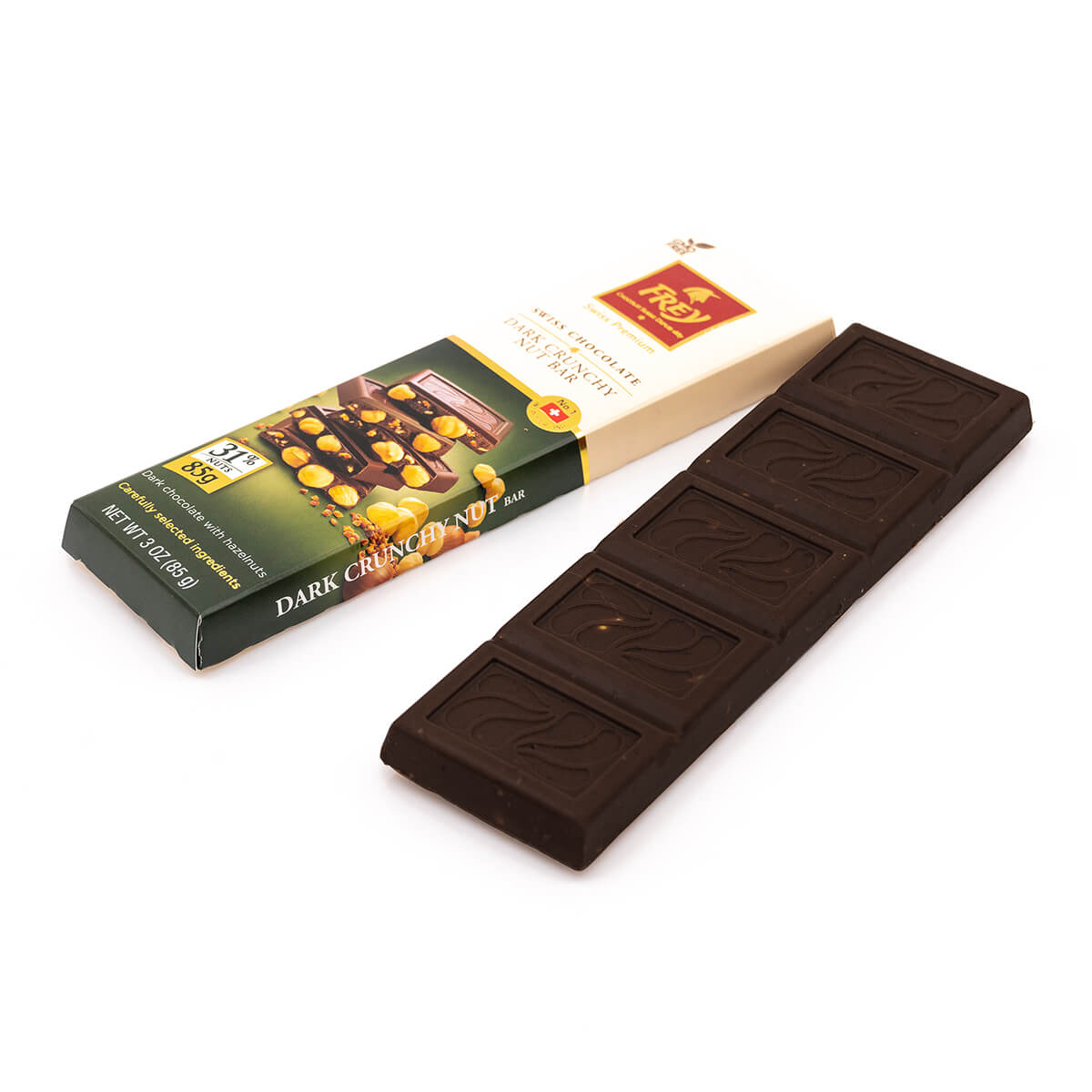 Dark Chocolate Crunchy Nut Bar - 3 oz