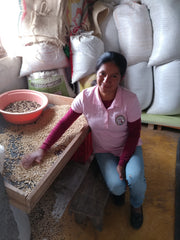 Bertha Colombia AMUCC Coffee Sorting
