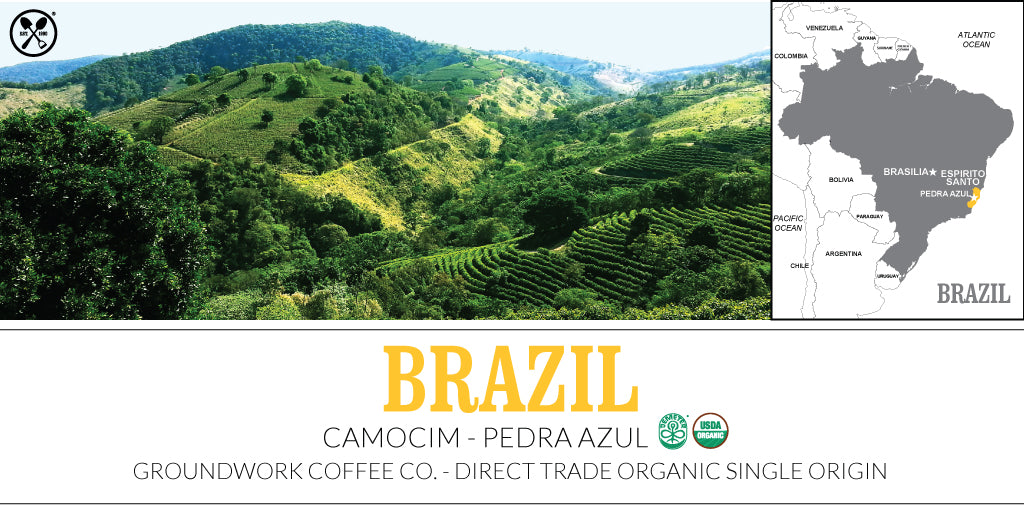 Groundwork Coffee Company Direct Trade Organic Single Origin Brazil Camocim - Pedra Azul