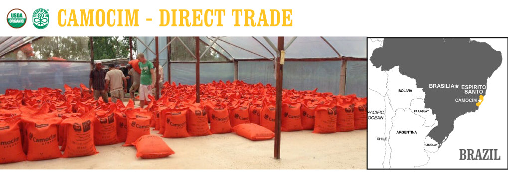 Our Camocim  - Direct Trade ready for shipment. Theses special Jutex synthetic bags are 100% recyclable and odorless, helping to better preserve the coffee's flavor.
