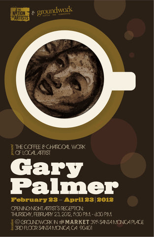 Groundwork Indie Garage  presents Gary Palmer – Coffee Series Poster.
