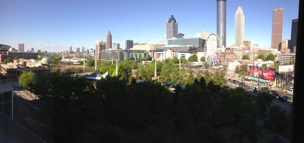 View from our Atlanta Georgia Hotel Room for the specialty coffee event Re:co