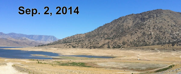 Diminished water levels in Lake Isabella