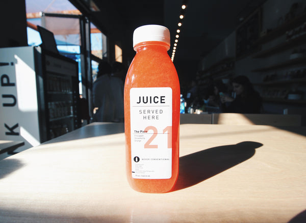 Juice Served here now in all Los Angeles Groundwork Coffee Cafes.