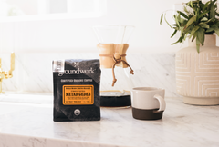 Ethiopia METAD Gedeb coffee bag with chemex by groundwork coffee