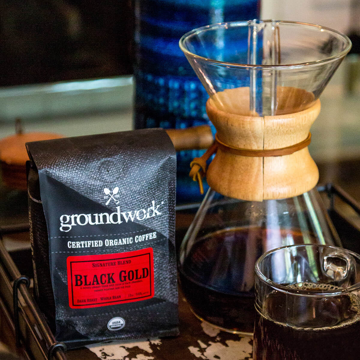 bag of Groundwork Black Gold coffee