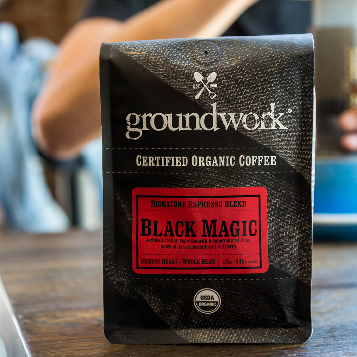 bag of Groundwork's Black Magic coffee