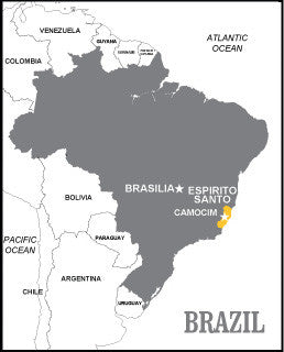 Map of Camocim, Brazil