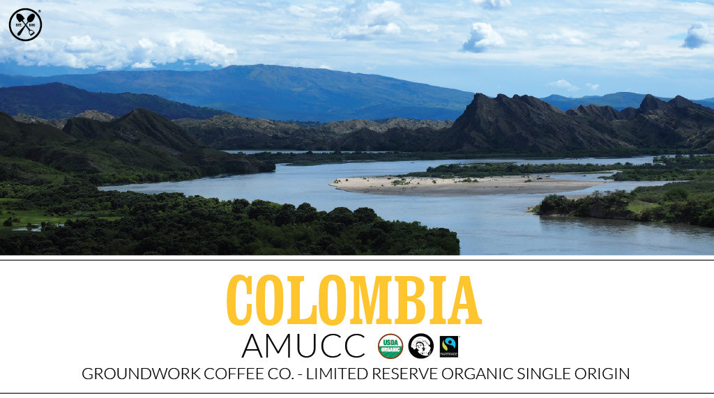 Colombia AMUCC certified organic free trade coffee