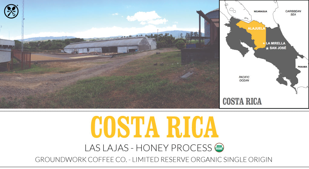 Groundwork Coffee Co.'s new Costa Rica Honey Process coffee trio.