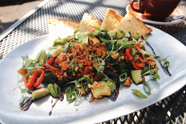 New from the Groundwork Rose Ave. Kitchen in Venice: Organic Scrambled Tofu