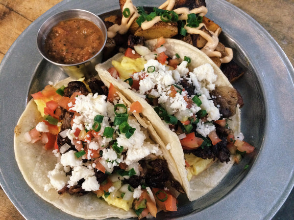 Breakfast Tacos at Groundwork Rose Ave. in Venice, California