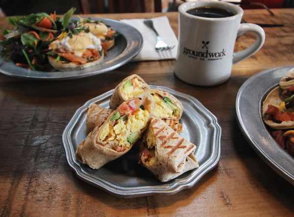 Groundwork Coffee Burrito Bites at our Rose Ave. Cafe in Venice, California